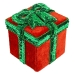 Red and Green Christmas Present Box with Bow