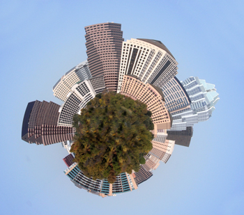 Mini Planet of Downtown Austin Texas