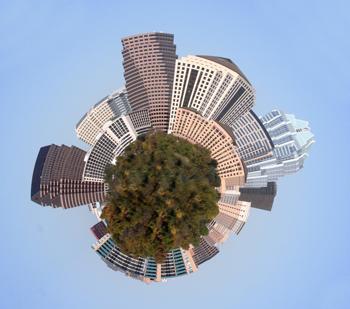 Mini Planet of Downtown Austin Texas